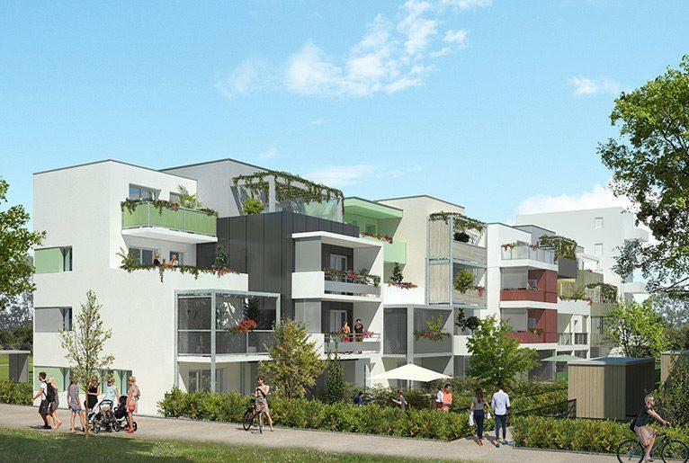 Recherche appartement neuf Dijon, les terrasses du colisée